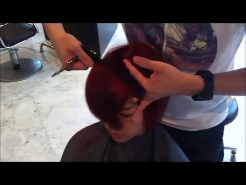 Hot Red  Bob by Kenneth