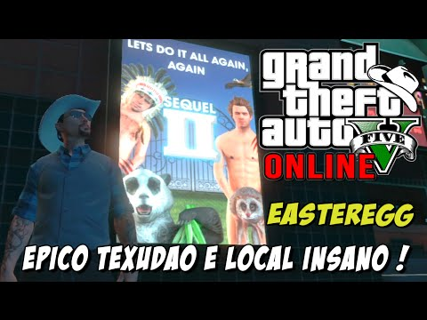 GTA 5 Online - Easteregg ÉPICO do Texudao, marca de carro e local insano