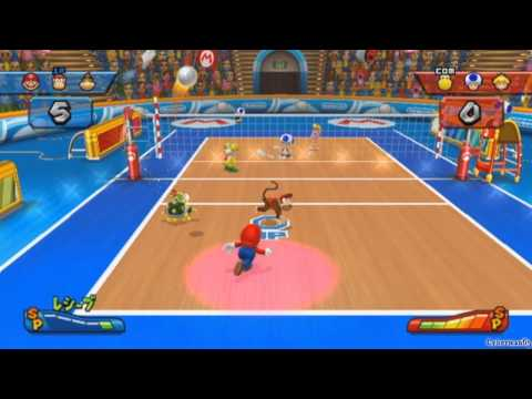 Mario Sports Mix video game walkthrough  [Part 2 – Volleyball ~ Mushroom Cup 1/3]