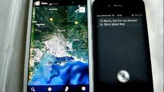 samsung galaxy s3 s voice VS iphone 4s siri (FACE OFF)
