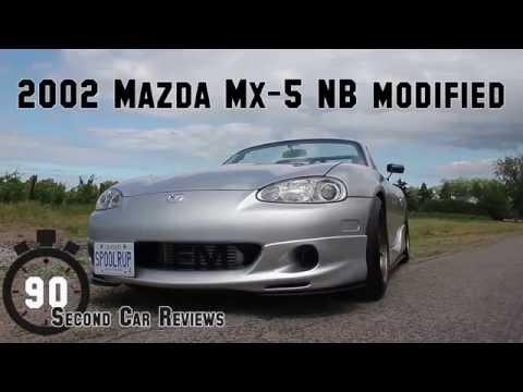 2002 MX5 Miata NB Modified   90 Second Car Reviews TURBO NOISES!