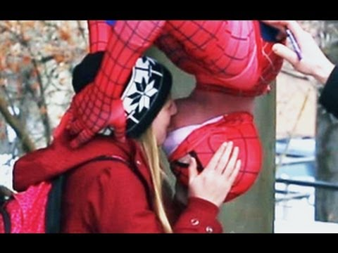 Spider-Man Kissing Prank~