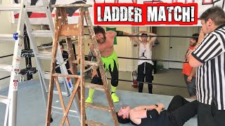 HUGE HEEL TURN OUT OF NOWHERE! GTS WRESTLING LADDER MATCH GONE WRONG