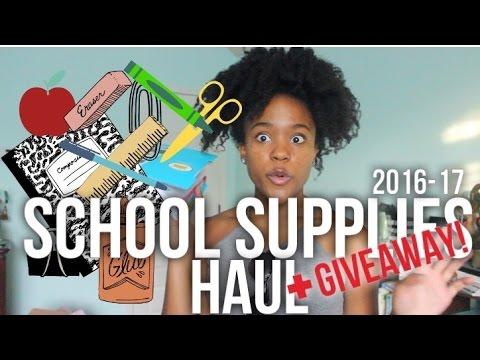 College School Supplies Haul 2016 + GIVEAWAY (USC)