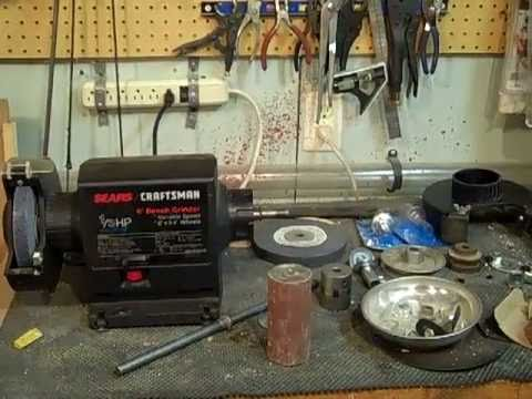 Homemade drum sander from grinder  Homebuilt Drum Sander / Finisher   V Drum  Sand-Flee