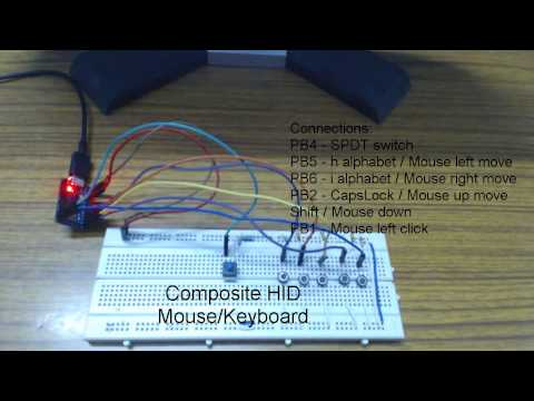 Atmega 32u4 Based Composite Keyboard Mouse