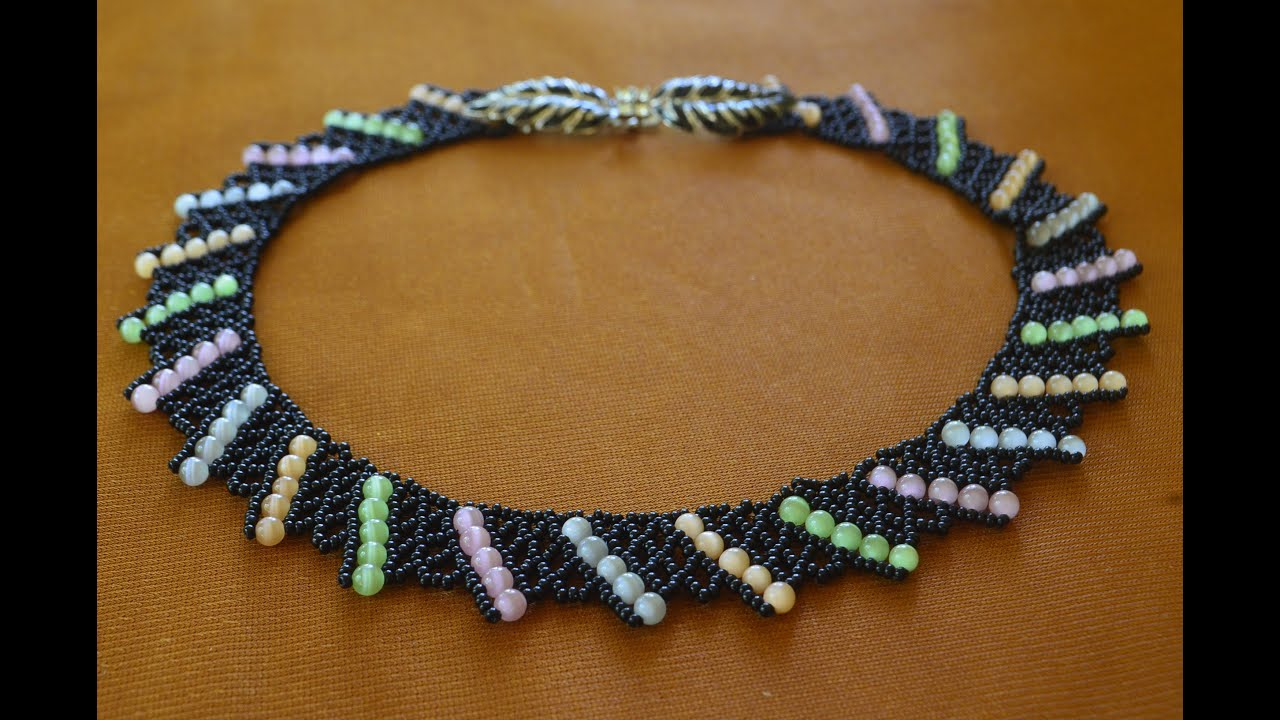 Плетение бисером колье мастер класс фото