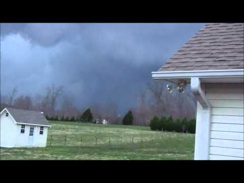 3-2-12 tornado, view from my deck in Bangham community, Cookeville TN ,North Putnam Co. toward Dodson Branch / Hilham.