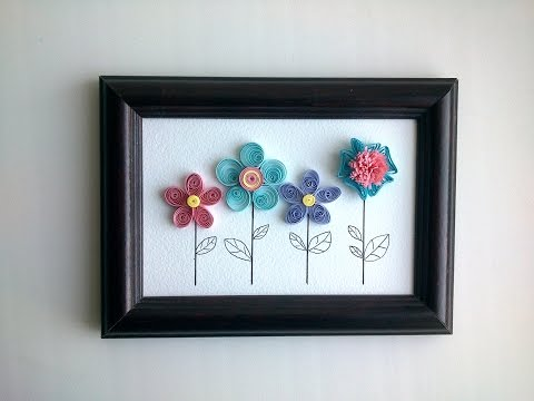 Paper Quilling Design How to make quilling wall decor with a quilling flowers .