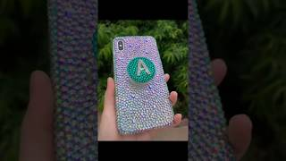 Custom handmae iPhone Xs Max Bling Case + PopSockets