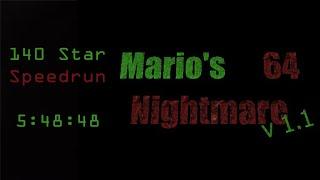 Mario's Nightmare 64: 140 Star Speedrun In 5:48:48