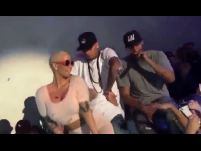 Amber Rose Twerking On Chris Brown At Supper Club LA