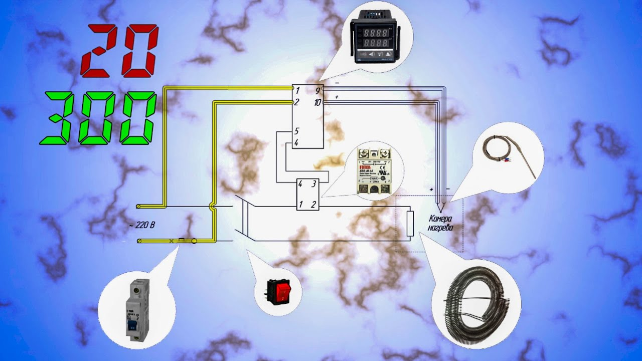 Схема подключения rex-c100 в ик станции