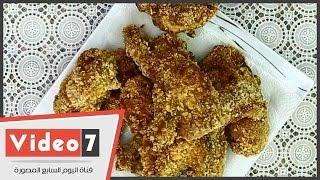 بالفيديو.. أسهل طريقة لعمل الدجاج بخلطة « كنتاكى » فى برنامج « أكلة فى خمسة »