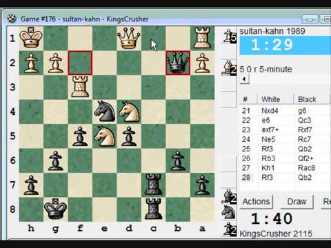 Chess World.net: Blitz #123 vs. sultan-kahn (1989) - French: Steinitz, Boleslavsky variation (C11)