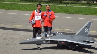 RC BIG Turbine Jet Hongdu L-15 at Jet World Master 2013 Pilot are Team China