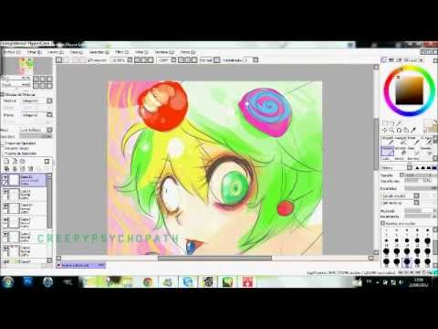 Paint tool sai  - Nutty (anime version - Happy Tree Friends)