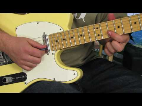 0 Blues Rock Guitar Lessons   Rock and Blues Lick for Electric Guitar   Fender Telecaster