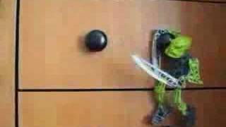 Bionicle Toa Lewa and Tanma fight