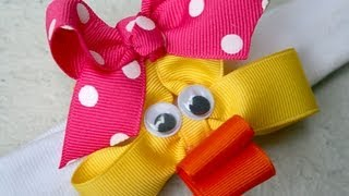 Cute little DUCK hair bow tutorial (Quack!)
