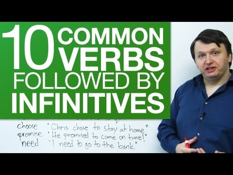 10 common verbs followed by infinitives – English Grammar for Beginners