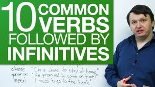 10 common verbs followed by infinitives - English Grammar for Beginners