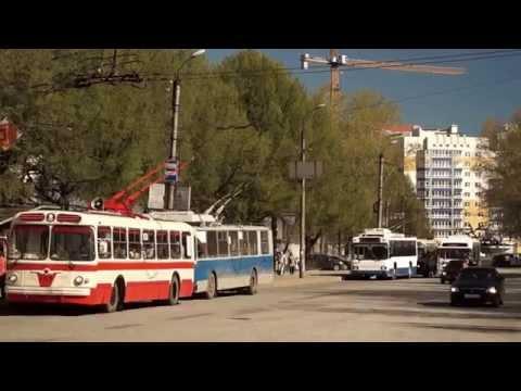 Троллейбус ЗИУ-5 // выход на маршрут 9 мая 2015