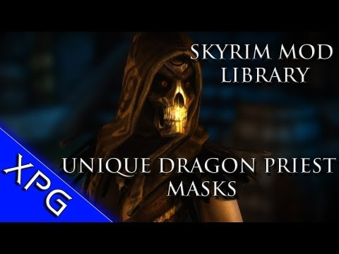 Skyrim Mod Library - Unique Dragon Priest Masks - HD textures