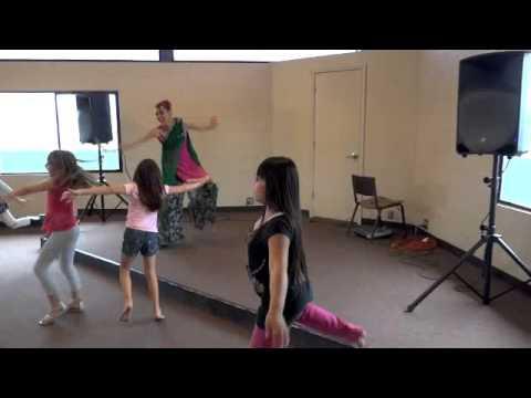 Teaching My First Bhangra Dance Class For Kids video