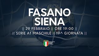 Serie A1M [19^]: Junior Fasano - Siena 22-22