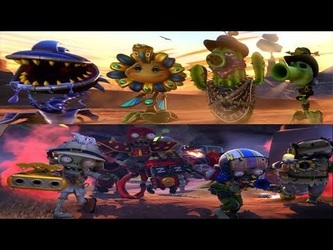 Plants vs. Zombies: Garden Warfare - All New Plants & Zombies (Zomboss Down: All weapon upgrades)