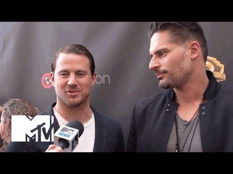 Channing Tatum, Joe Manganiello, & Adam Rodriguez Talk 'Magic Mike XXL' | MTV News