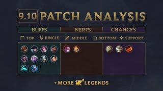 league patch 9.10 release date