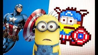 МИНЬОН - КАПИТАН АМЕРИКА (Minion/Captain America)PIXEL ART