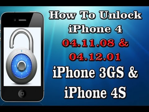 FREE Unlock ANY iPhone 4 04.11.08/04.12.01, iPhone 4S and iPhone 3GS