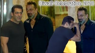 Salman Khan & Sanjay Dutt Celebrate Diwali 2018 Together | Salman ENDS FIGHT With Sanjay Dutt