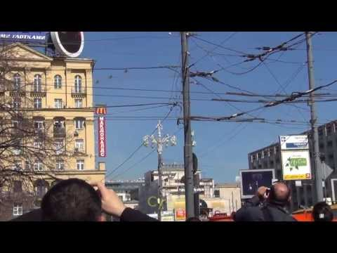 Проход авиации над Тверской 9 мая. Aviation group of Victory Day parade over Tverskaya Street.