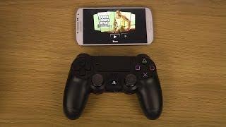 GTA San Andreas Samsung Galaxy S4 Sony PlayStation 4 Dual Shock 4 Controller Gameplay