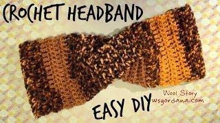 Download How to Crochet a Turban Headband (Heklana traka za kosu) 3Gp Mp4