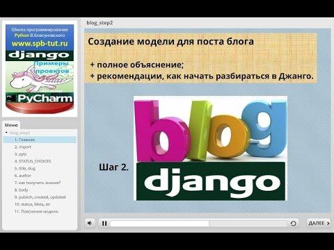 Django 1.10 Python 3.4. Шаг 2. Создание модели для поста блога.