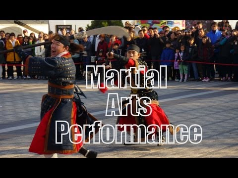 Korean traditional Martial Arts & Music Performance at Seoul Tower - Namsan, Korea