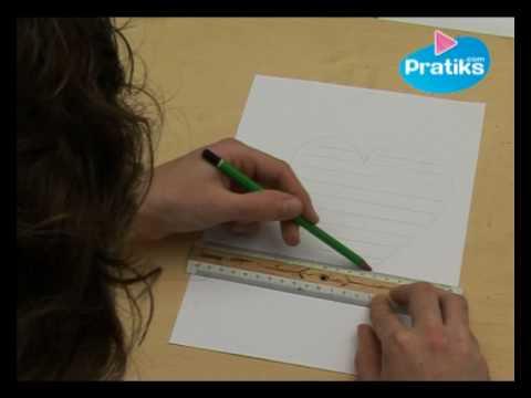 Comment faire un calligramme en forme de coeur - Comment fair un coeur ...