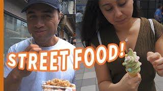 NZ COUPLE try TASTY STREET FOOD of OSAKA + NEW Sony a6400 Camera 🇳🇿🇯🇵