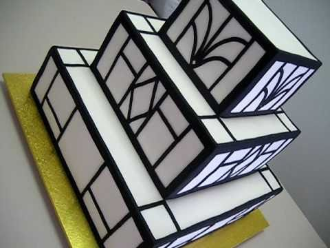 Art Deco Sheet Cake : Art Deco Wedding Cake for Anna & Nick - YouTube