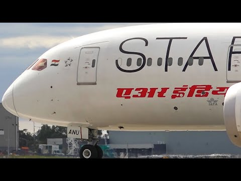 Star Alliance Livery - Air India Boeing 787-8 Dreamliner - Departure at Melbourne Airport [VT-ANU]
