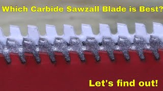 Which CARBIDE Thick Metal Sawzall Blade is Best? Let's find out!