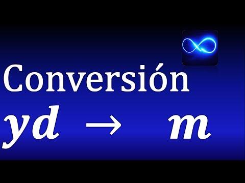 24. Cómo Convertir Yardas (yd) A Metros Muy Fácil