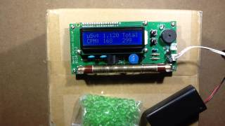Using a Geiger counter on uranium glass and thorium mantles.