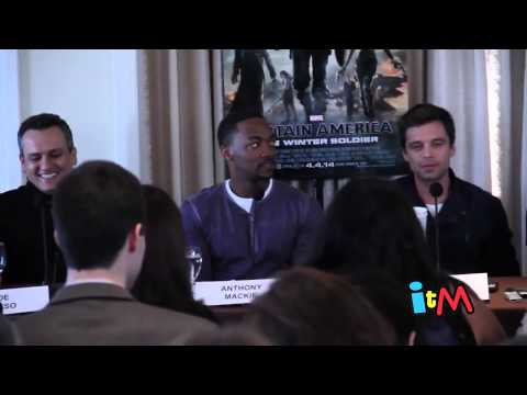 Captain America   The Winter Solder press conference   Chris Evans, Scarlett Johansson
