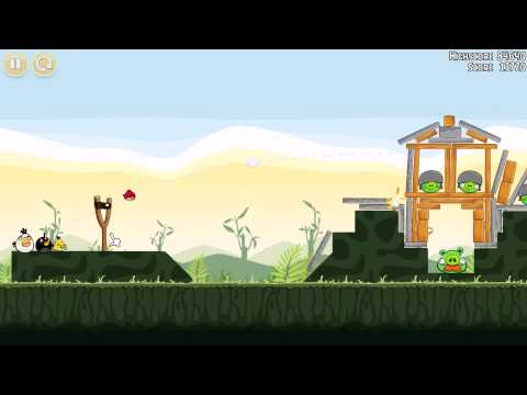 Angry Birds walkthrough level 2-21